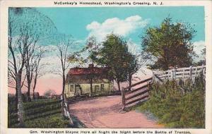New Jersey Trenton Mcconkeys Homestead Washingtons Crossing