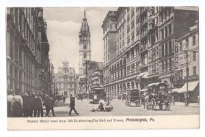 Market Street West from 11th Philadelphia PA 1908
