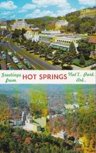 Arkansas Greetings From Hot Springs Bath House Row