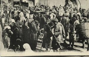 lebanon, BEIRUT BEYROUTH, Les Portefaix, Porters (1920s)