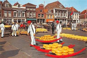 Netherlands Holland, The well-known Cheese-Market of Alkmaar