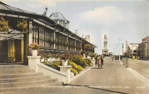 Vintage Kent Postcard, Promenade and Central Bandstand, Herne Bay FZ5