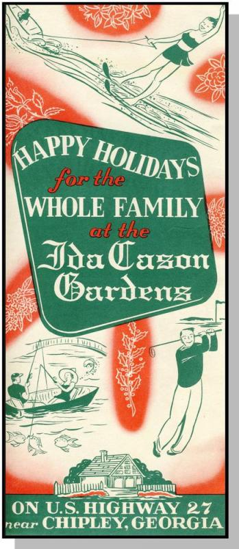 Ida Carson Gardens Brochure, Chipley, Georgia/GA, Highway 27