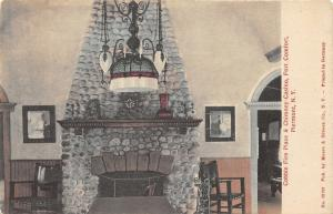 Piermont New York~Fort Comfort~Casino~Cobble Fire Place & Chimney~c1910 Postcard