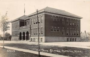 F35/ Alpena Michigan RPPC Postcard 1925 McPhee School Building