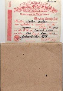 Royal Antediluvian Order Of Buffaloes 1937 Large Rule Book & Certificate
