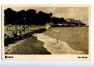 155443 Germany SASSNITZ Strand Beach Vintage postcard