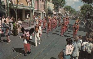DISNEYLAND, 1950s-60s; Mickey Mouse leading the Disneyland Band
