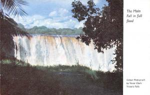 Zimbabwe Rhodesia The Main Fall in full flood, Waterfall, Cascade
