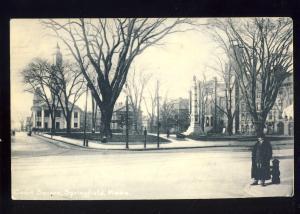 Springfield, Massachusetts/MA/Mass Postcard, Court Square, 1909!