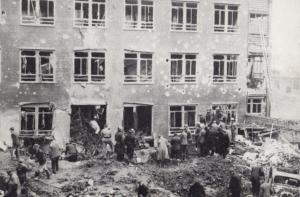 Coventry Hospital Bomb Damage After WW2 Military Raid Disaster Postcard