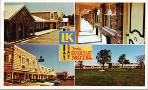 L-K Motels Penny Pincher Inns Hawkesbury Ontario ON Ont. Vintage AD Postcard D48