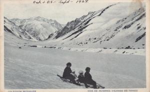 Dias de Inviero , Viajando en Trineo , Argentina , PU-1924