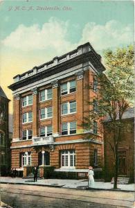 Steubenville OH~Folks Standing @ Young Men's Christian Association~1913 Postcard