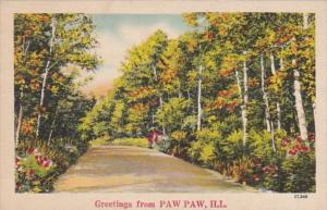 Greetings From Paw Paw Illinois 1946