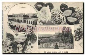 Old Postcard Toul Station I Send You This Flowers