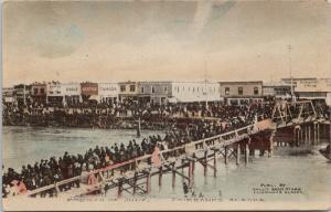 Fourth Of July Fairbanks Alaska AK Arcade Cafe Senate Tanana c1910 Postcard E41