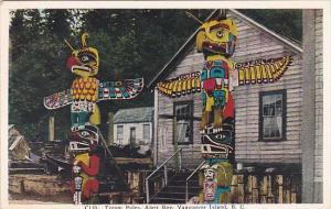 Canada Vancouver Island Indian Totem Poles Alert Bay