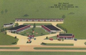 EVANSVILLE, Indiana, 1930-40s; The Sky Way Court