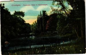 CPA GRONINGEN Plantsoen Vijver N. Buitensingel NETHERLANDS (604317)