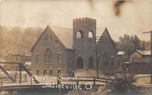 E81/ Salineville Ohio RPPC Postcard Columbiana Co 1908 Christian Church 12