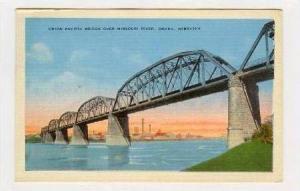 Union Pacific Bridge,Missouri River,Omaha,Nebraska,1937