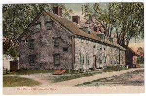Augusta, Maine, Fort Western, 1754