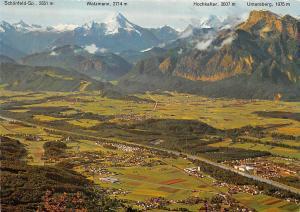 Panorama Blick vom Gaisberg Panorama Watzmann Hochkalter Untersberg Schoenfeld