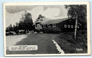 The Alada on Pine Lake Cabins Cottages Bait Highway 70 Wisconsin WI Postcard B16