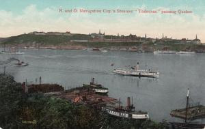 Quebec, Canada; PU-1908 ; R.and O. Navigation Coy.'s Steamer Tadousac passing