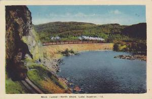 Mink Tunnel, North Shore, Lake Superior, Ontario, Canada, 1930-1940s