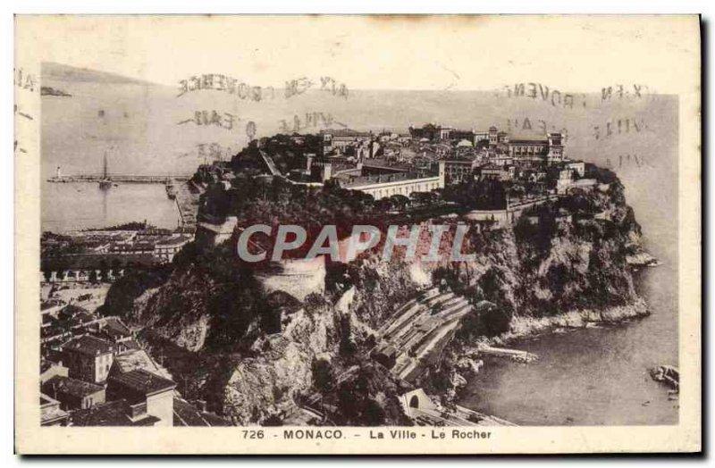 Old Postcard Monaco Ville The Rock