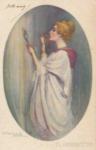 Art Deco Portrait , BOMPARD , Il Rossetto , 1910s ; #1