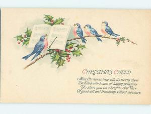 Pre-Linen christmas HUMANIZED BIRD ACTS AS MUSIC CONDUCTOR FOR SINGERS hr2728