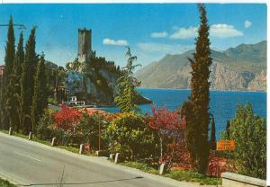 Italy, Lago di Garda, Malcesine, 1970s used Postcard