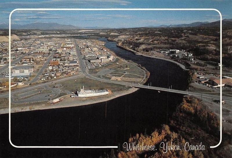 Canada Whitehorse, Yukon River Bridge Pont Panorama