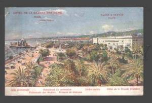 093182 FRANCE Nice Hotel de Grande Bretagne Jardin Public Old