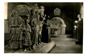 Spain - Valencia. Museum Sculptures: Burial of the Bullfighter   *RPPC