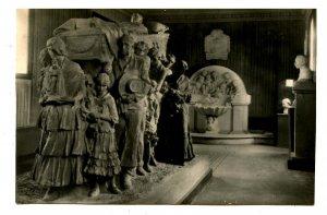 Spain - Valencia. Museum Sculptures: Burial of the Bullfighter   *RPPC