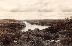 Forsyth Missouri~Lake Taneycomo & Ozark Mountains View~1948 Real Photo Postcard