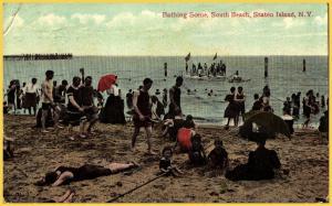 Staten Island, N, Y., Bathing Scene, South Beach - 1910
