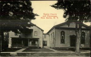 New Berlin NY Church & Parsonage c1910 Postcard