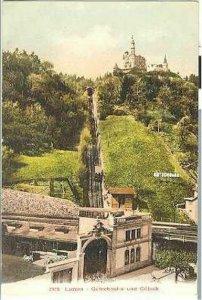 pc707 postcard Luzern Switzerland Gutschbahn Incline