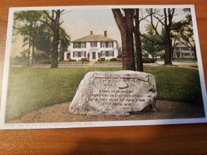 Antique Postcard, Line of the Minute Men, Lexington, Mass  Phostint D71082