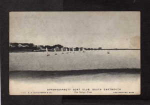 MA Apponagansett Boat Club South Dartmouth Massachusetts Postcard Sail Boats