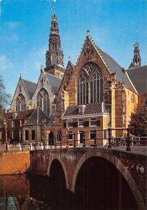 Netherlands Amsterdam Oude Kerk Bridge Church Pont Eglise