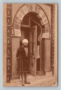 Tunis Tunisia Africa, Entrance to a Moorish bath Vintage c1910 Postcard