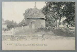 Old Powder House, Built 1757, Marblehead MA Rotograph UDB Postcard (#7191)