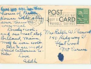 1940's PARKER HOUSE HOTEL Boston Massachusetts MA W5200