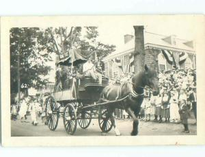 rppc Pre-1930 KING TUT SIGN ON CARRIAGE IN PARADE AC7789